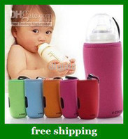 Wholesale Hot V COOOL Baby Milk Bottle bag Set Glass feeding Bottles Insulating Sheath S L gifts