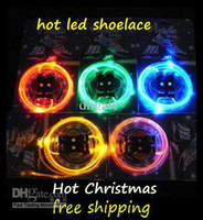 Wholesale Christmas party Glow LED flashing shining shoelace PLATUBE LIGHT UP THE NIGHT FLASHING SHOE LACES