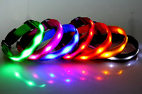 7 colors 6 LED beeds pet LED Flashing collars Cat Dog Pet sa...