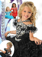 Wholesale 2014 Girl s Pageant Dresses Halter Off Shoulder Organza Ruffles Ball Gown Mini Short Skirt Crystal Little Kid Pageant Dresses GB213