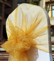 Wholesale Gold chair cover hood chair sash organza sash