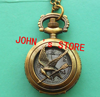 Wholesale Freeshipping mix diff styles hunger games pocket watches Dia27mm S494