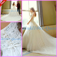 Cheap Trumpet/Mermaid 2014Wedding Dresses Gowns Best Reference Images Sweetheart Lace Mermaid  Wedding