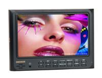 Wholesale 7 HD HDMI LCD Monitor Sun hood Hot shoe mount for vedio camera DSLR D2