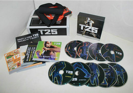 Wholesale best sell arrival Focus T25 WORKOUT FITNESS DVD SET WITH RESISTANCE BAND