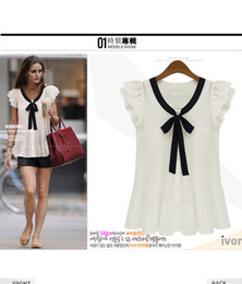Wholesale summer fashion women s plus size chiffon short sleeve top women s blouse size S XXL
