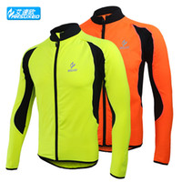 Wholesale winter warm up Fleeces men running cycling bike bicycle sportswear running compression Clothing jacket wear