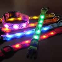 6 LED beeds 4 Size 6 colrs Cartoon Pluto LED dog collars LED...