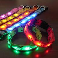 7 colors 4 size 6 LED beeds Pluto LED dog collars LED pet Fl...