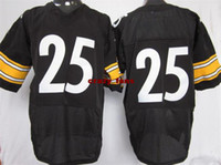 Wholesale Mens Elite Jerseys black Steelers Black Athletic Apparel Sports Shirt Football Jerseys Mix Order Hot Sell