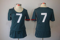 Wholesale 2014 Women Ladies Jerseys Midnight Green Michael Vick Eagles Jersey Brand All Team Athletic Apparel For Women Mix Order