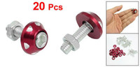 Wholesale Freeshipping Silver Tone Red Alloy Car License Plate Bolt Screw Suitable for all models