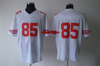 Wholesale 2014 NEW Davis ers Elite Jersey White TE American Football Jerseys Soft Mens Football Wears All Team Uniform Size Mix Order