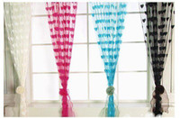 Wholesale Romantic love form line curtain width M high M The beauty of the family decoration