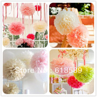 Wholesale Inch Paper Flowers Ball Peony Bouquet Paper Flowers Garland Wedding Decoration Supplies Paper