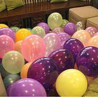 Wholesale Free Shipipng Multi color Color Inch Latex Helium Inflable Thickening Pearl Wedding Party Decoration Balloons