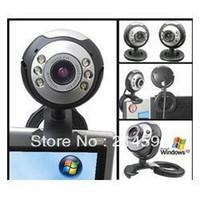 8 Mega 1024x768 USB Wholesale - Hd computer camera with a microphone night vision video usb cmos web cam desktop microphone