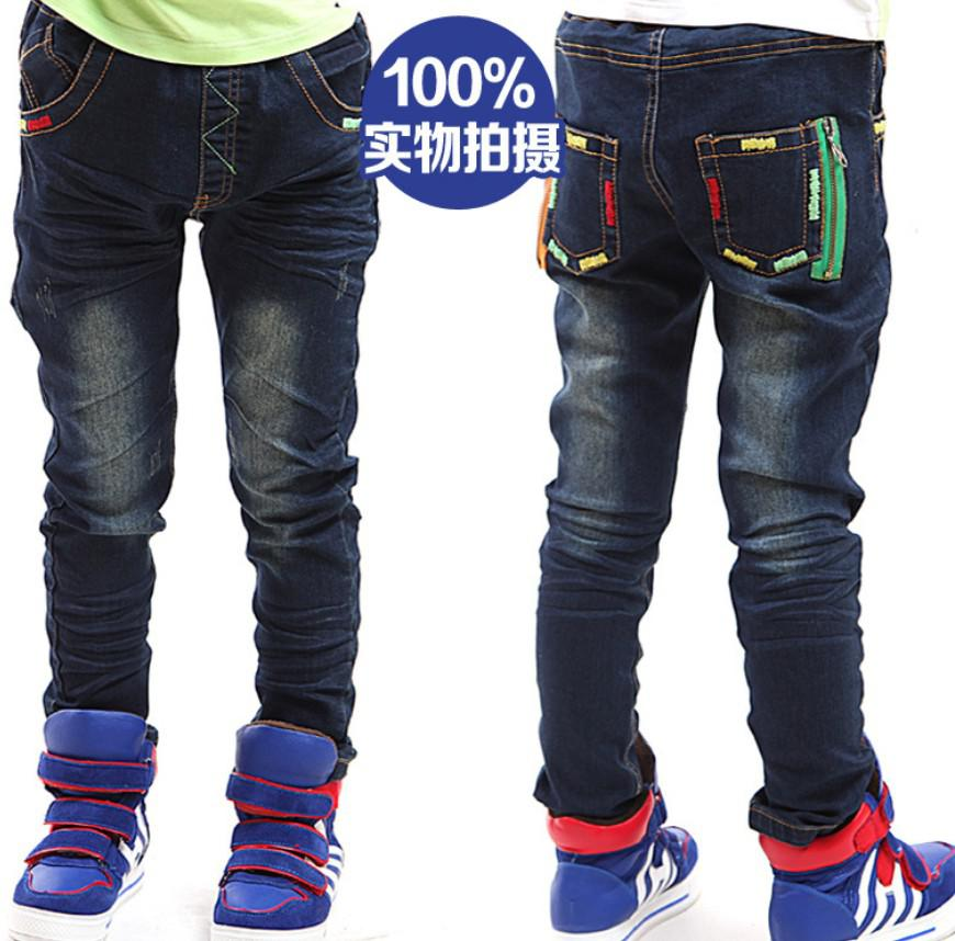 2015 Spring Children Jeans Boys Embroidery Thread Design Jeans ...