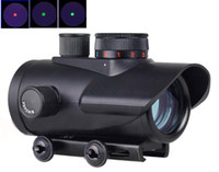 Wholesale Holographic Tactical BSA x30mm Red Green Blue Dot Sight hunting Rifle Scope mm Weaver Mount quot