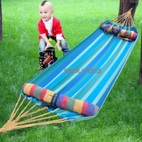 other   Outdoor canvas single hammock thickening color stripe hammock adult hammock indoor child swing bag lashing