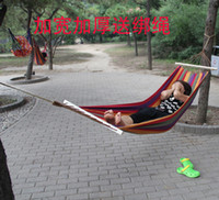 other   Broadened thickening outdoor hammock canvas pole hammock wood rod hammock lashing swing