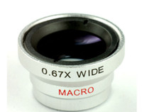 Universal   0.67X wide Angle micro lens detachable macro lens for mobile phone and digital camera external lens special effects shots