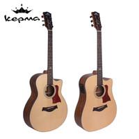 Wholesale Acoustic guitar kepma kama folk guitar electric box a c d2ce