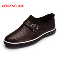 Wholesale Commercial AOKANG casual shoes skateboarding shoes male fashion comfortable genuine leather shoes low top the tide of leather