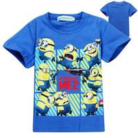 Wholesale Hot Sale Children s T shirts Summer cartoon despicable me minions kids t shirt cartoon minions Summer t shirt