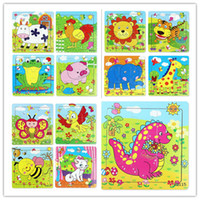 Animals educational games for children - Kids Toys Wooden Toys for Toddler Baby Develop Intelligence Educational Toys Children Cartoon Animal Wood Toys Children Gifts Games Puzzles