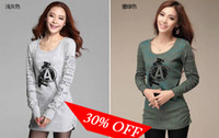 Wholesale High quality Hot Sale Girl T Shirts Cotton Fabric M L XL Long Sleeve T Shirts pic