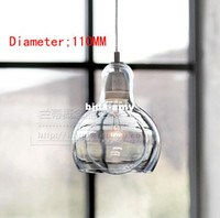 Wholesale Modern minimalist restaurant lamp chandelier chandelier creative artistic personality bar single head glass lamps Diameter CM