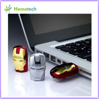 Wholesale Cartoon Fashion Iron Man LED GB GB good Pen Drive USB Flash Driver Memory Stick Pendrive Gift