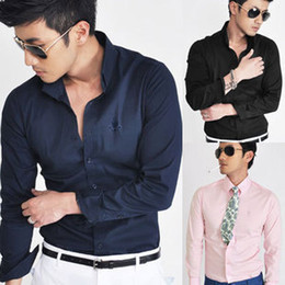 Wholesale New fashion men s long sleeve dress shirt Seller ebay