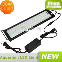 Wholesale New Black LED High Quality Fish Tank Light Led W Lamp Aquarium Blue White aquarium led lights lamp
