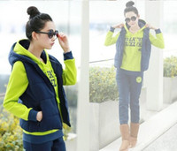 Wholesale Brand New Korean Women Fashion Tracksuits Sets Lady s Sport Suit Women s Thicken Warm Training Suit