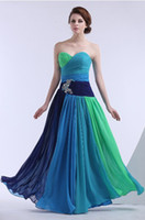Wholesale new fashion iridescence vestidos de fiesta dress party evening elegant prom sexy long crystal beaded Graduation Dresses
