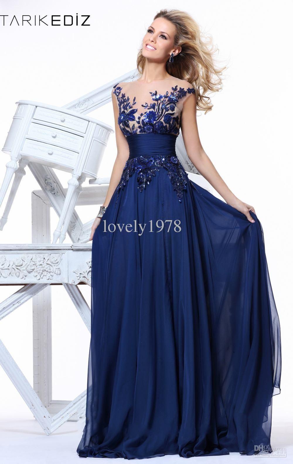 Navy Blue Chiffon Dress  Dress images