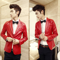 Wholesale hot sale and new arrival men s Metal button fashion leather cool design blazer Seller ebay