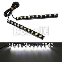 Wholesale New X Car DIY LED DRL Driving Daytime Running Light Bar Soft Head Lamp Super White V TK0012