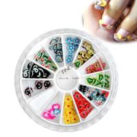 Wholesale 12sets New Fashion colors D cute Fruit slices polymer clay for nail art decoration Types