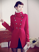 Coats Women Cotton Womens White Coats Double Breasted Stand Collar Womens Winter Coat Stylish Outwear Nice