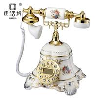 Wholesale Bookpass songzanganbu antique decoration telephone vintage pyroceramic colored drawing telephone