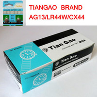 Wholesale 100pcs TIANGAO Brand AG13 LR44 V Alkaline Button Cell Batteries for Silicone Watch Timer Clock CX44 The Coin Small Battery