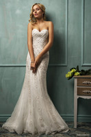 Trumpet/Mermaid Reference Images Sweetheart Garden Wedding 2014 Amelia Sposa New Arrival Sweetheart Floor-length Lace Applique Mermaid Attractive Lace-up Bridal Dresses