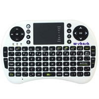 Wholesale W shark AC New White Android Auto Sleep And Wake Feature GHz Mini Wireless QWERTY Keyboard amp Mouse With Touch Pad K0229B