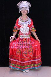 Wholesale Hmong clothing long embroidered hmong clothing costume dance clothes
