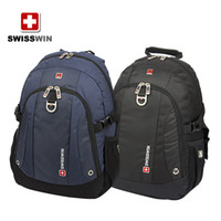 Wholesale SWISSWIN Army knife computer shoulder backpack men backpack schoolbag Students backpack