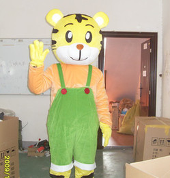 Wholesale New Green Qiao Tiger mascot costume Adult Size Suit Christmas fancy dress factory direct