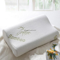 Wholesale 30x50 Bamboo Fiber Slow Rebound Memory Foam Pillow Cervical Health Care ESY1